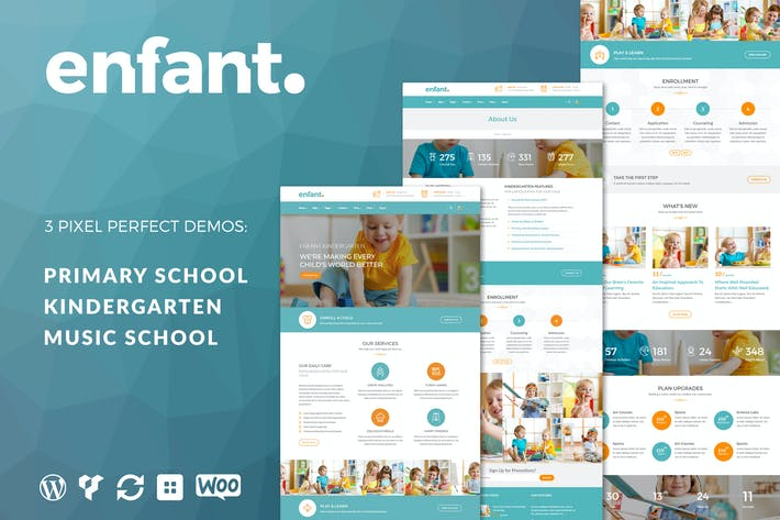 Cover Image For Enfant - School and Kindergarten WordPress Theme