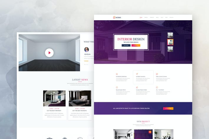 Thumbnail for Interior Design & Architecture PSD Template