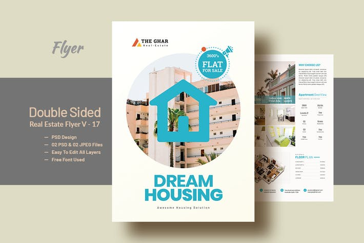 Thumbnail for Double Side Real-Estate(Apartment Sales) Flyer V17