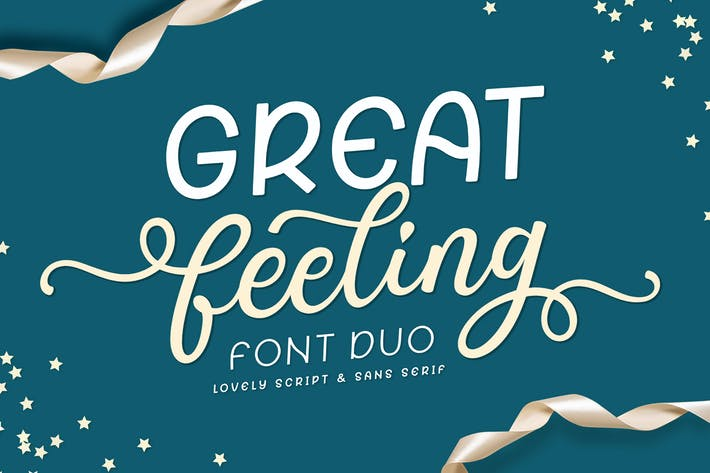 Thumbnail for Great Feeling Font Duo