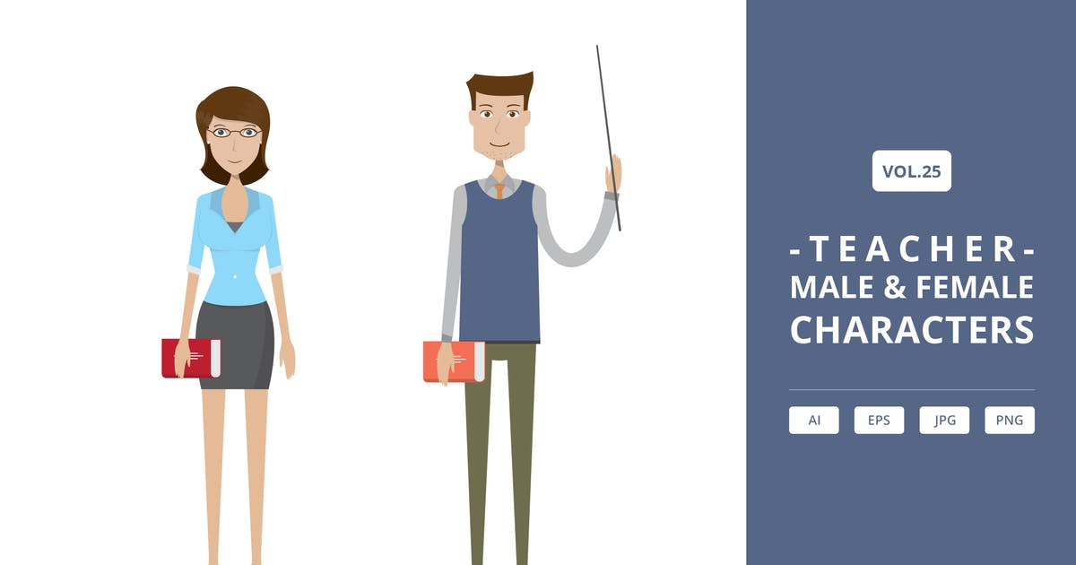 Download Teacher - Male & Female Characters Vol.25 by Graphiqa