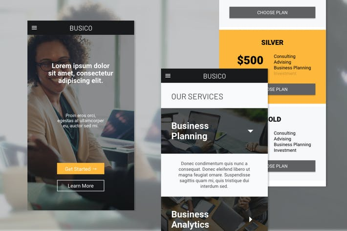 Thumbnail for Busico Business Consultant Homepage (Mobile Web)
