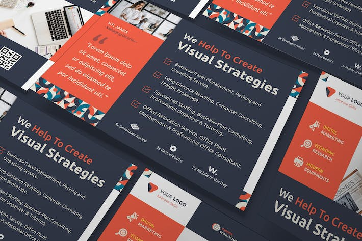 Thumbnail for Corporate, Business A5 Flyer PSD Template