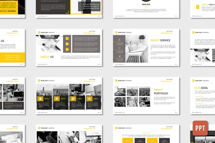 Thumbnail for Corporate Business Proposal Template - (PPT)
