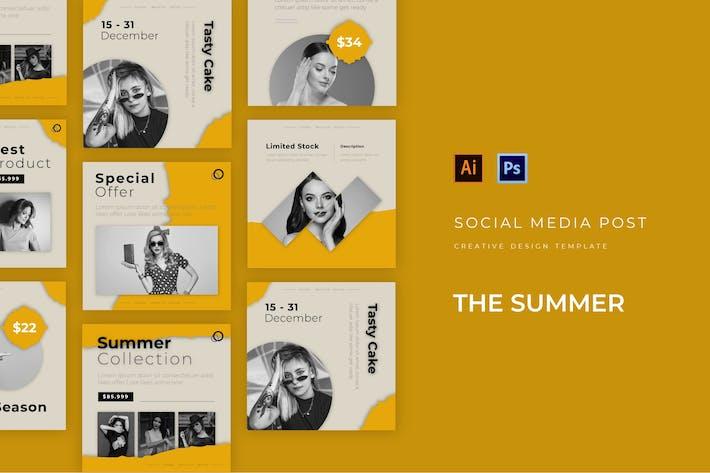 Thumbnail for Summer Coleção Social Media Post