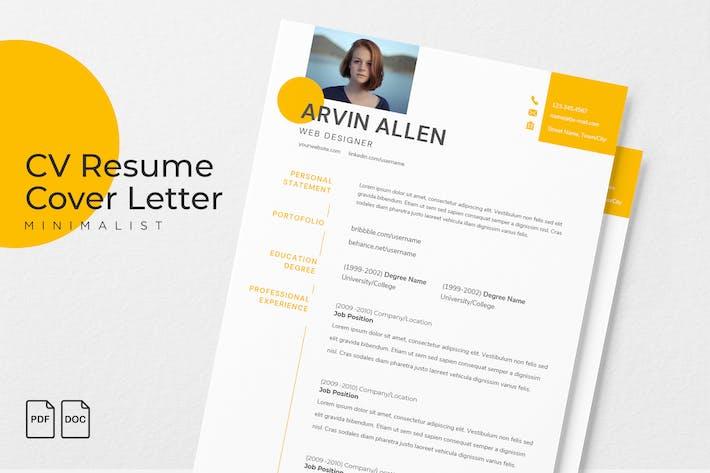 Thumbnail for Arvin Allen - CV Resume Template