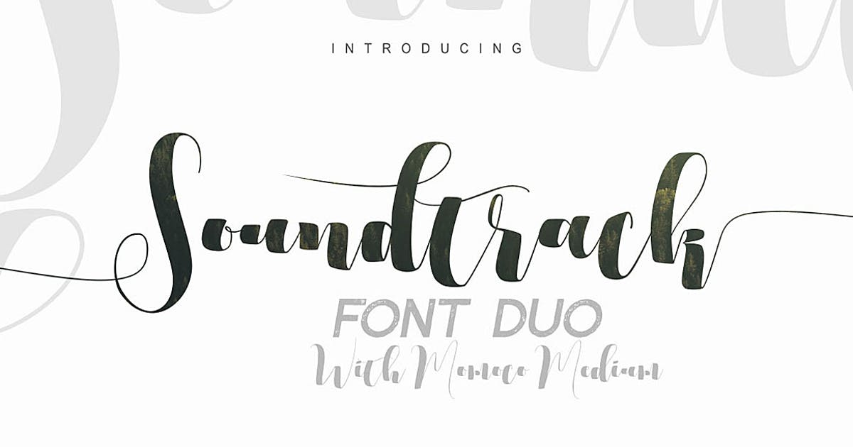 Download Soundtrack Font Duo by cruzine