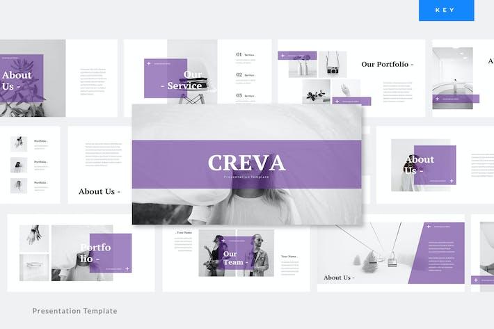 Thumbnail for Creva - Creative Keynote PräsentationsVorlage