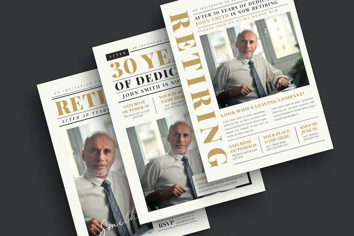 Thumbnail for Newspaper Style Retirement Invitation
