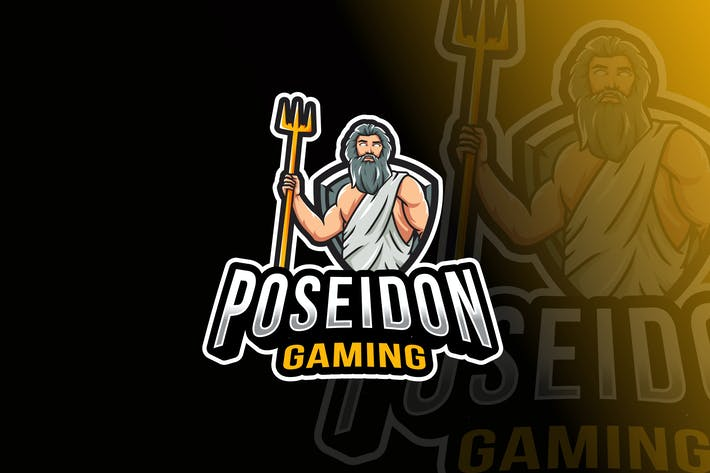 Cover Image For Шаблон логотипа Poseidon