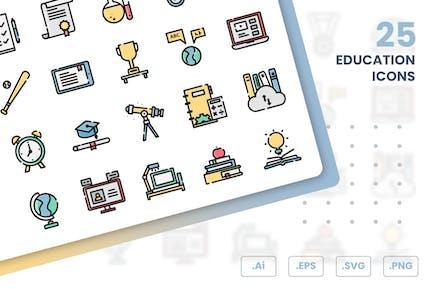 Conjunto de Íconos de educación