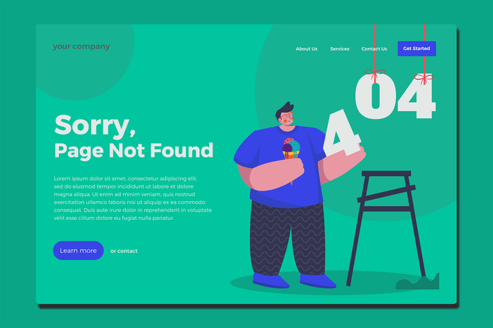 Thumbnail for 404 Page - Landing Page