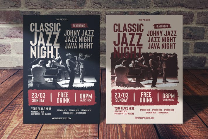 Thumbnail for Classic Jazz Night Flyer