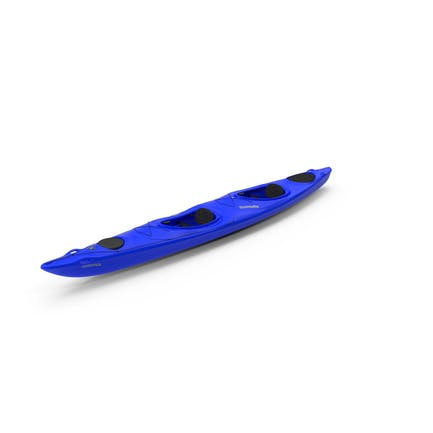 Blaues Kajak