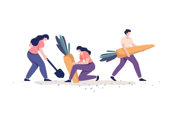 Thumbnail for People Harvesting Vegetables