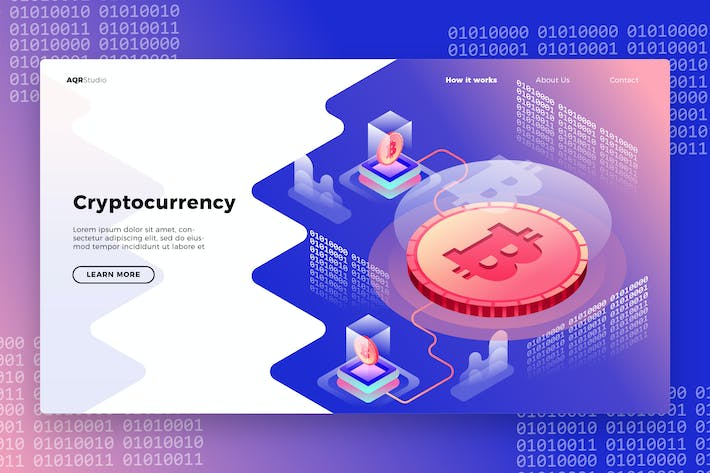 Cryptocurrency - Banner & Landing Page