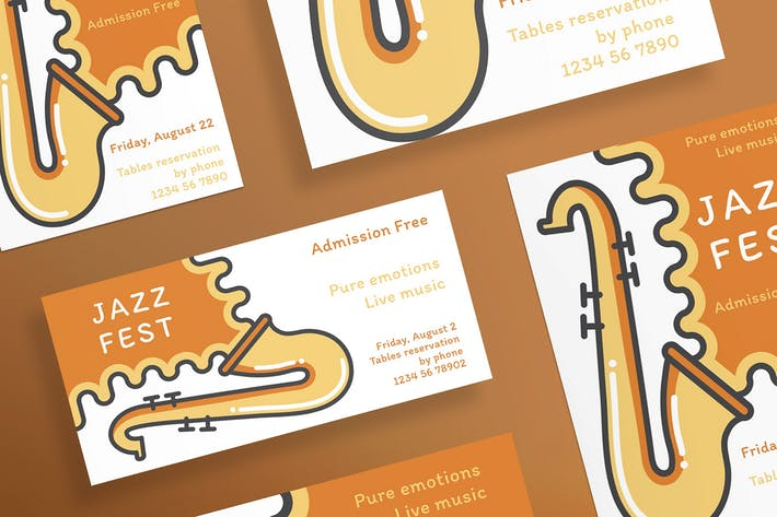 Cover Image For Jazz Festival Flyer and Poster Template