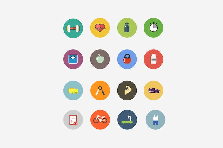 Thumbnail for 15 Health and Fitness Icons