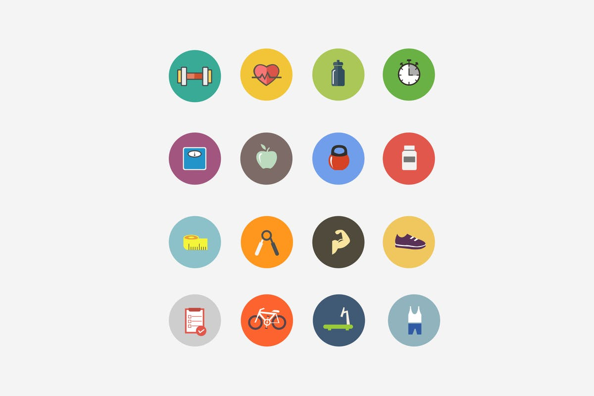 Download 15 Health and Fitness Icons by creativevip by Unknow
