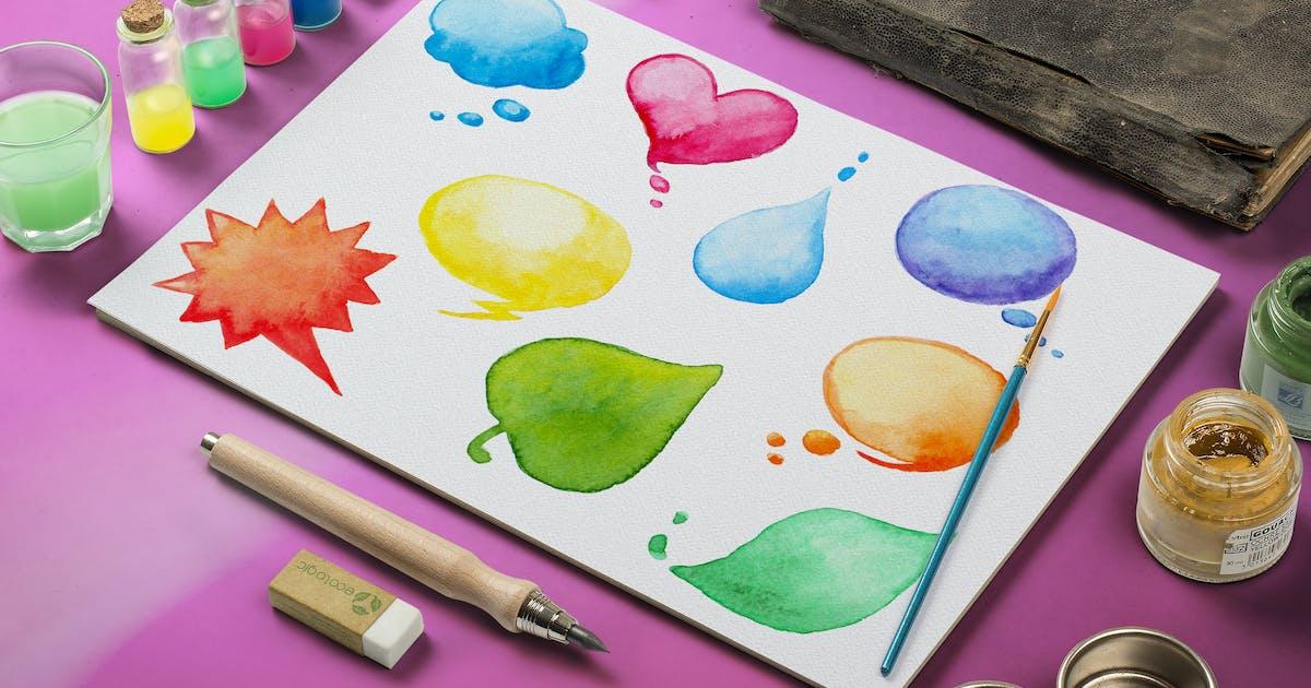 Download Watercolor Design Elements by Artness