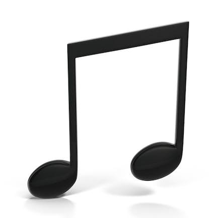 Beamed Musical Note Black