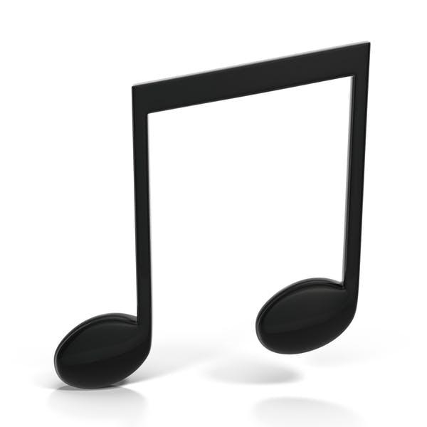 Музыкальная нота с балочным бисером черный