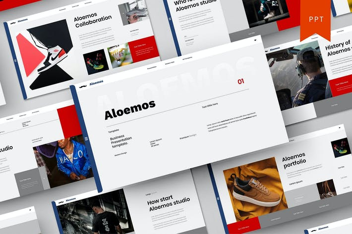 Thumbnail for Aleomos - Modelo do PowerPoint de negócios
