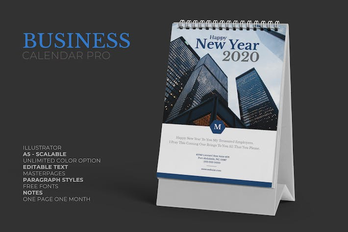Thumbnail for 2020 Marketing Business Calendar Pro