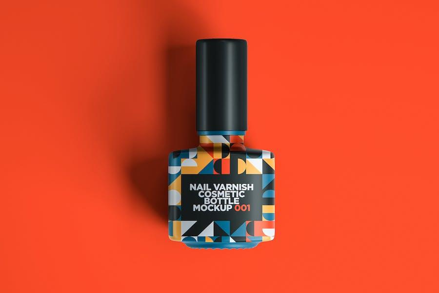 Nail Varnish Cosmetic Bottle Mockup 001