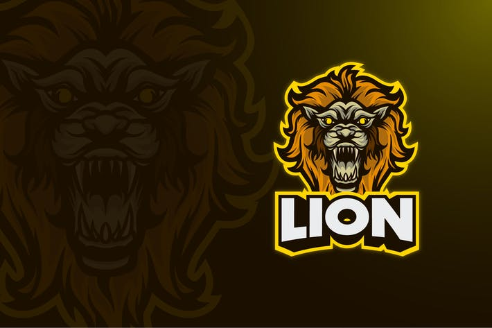 LION MASCOT LOGO TEMPLATE