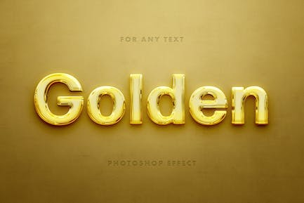 Polished Gold Text Effect
