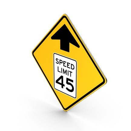 Speed Limit Ahead Traffic Control Road Sign