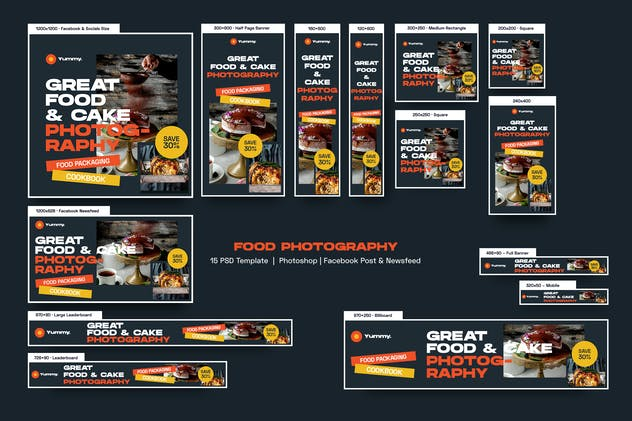 Food Photography Banners Ad