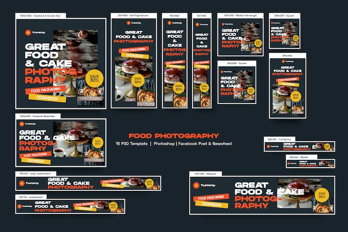Thumbnail for Food Photography Banners Ad