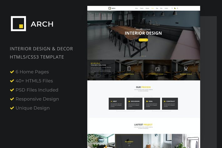 Thumbnail for Interior Design, Architecture HTML5 Templale