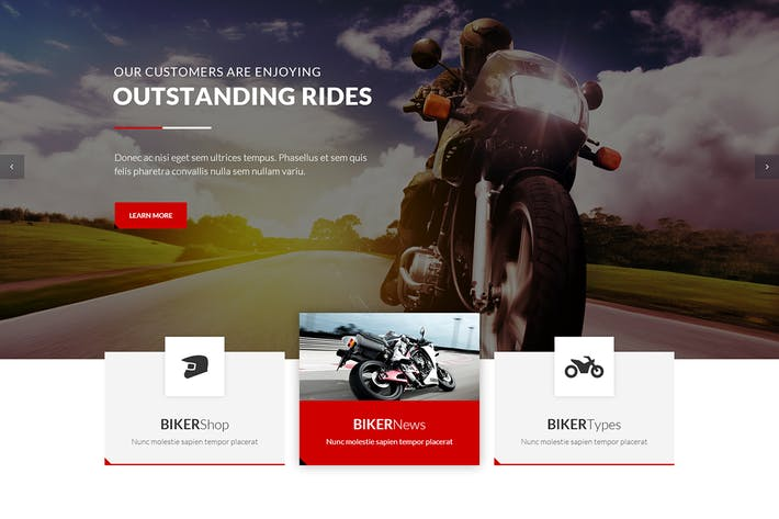 Thumbnail for BikersClub - PSD Template