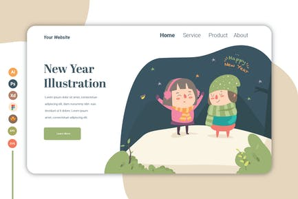 New Year vol.2 - Landing Page Template
