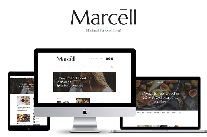 Thumbnail for Marcell - Personal Blog & Magazine WordPress Theme