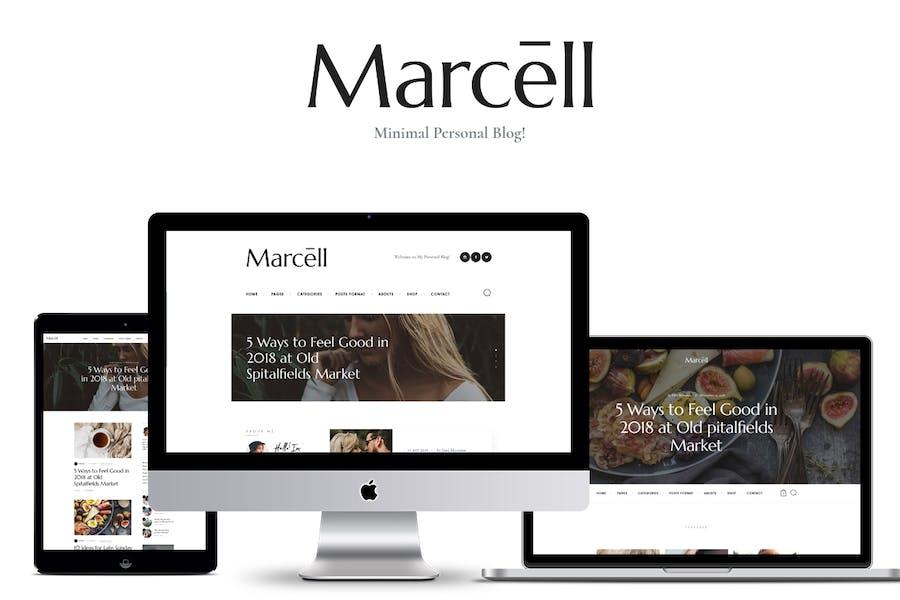Marcell - Personal Blog & Magazine WordPress Theme