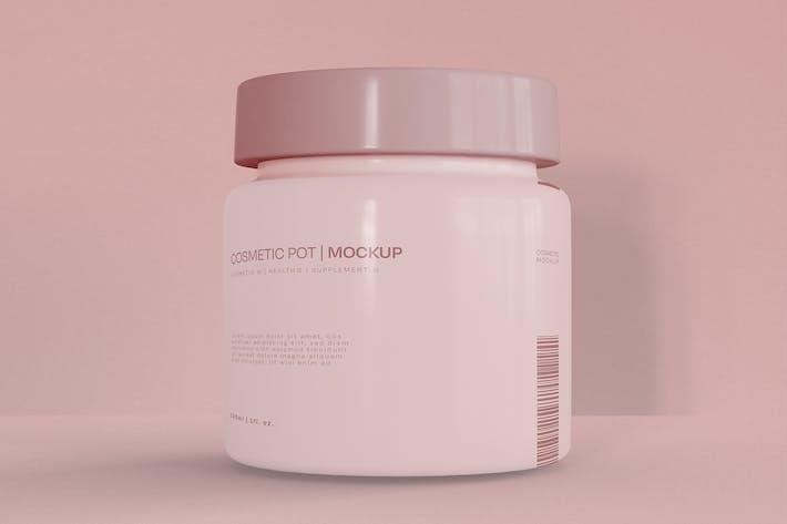 Cream Container Mockup