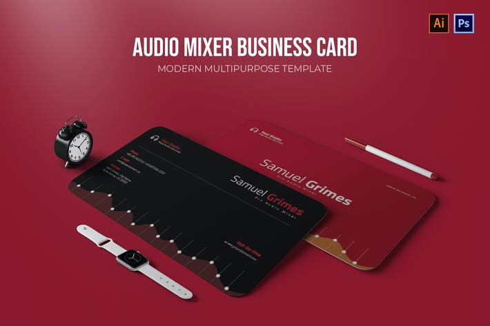 Thumbnail for Audio Mixer - Business Card