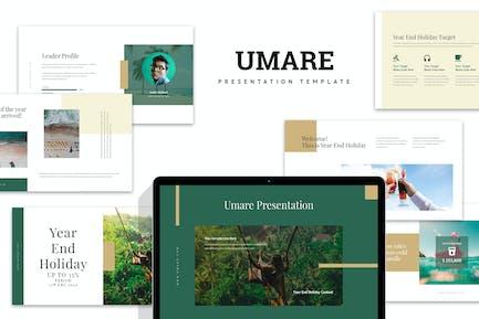 Umare : Year End Vacation Promo Keynote