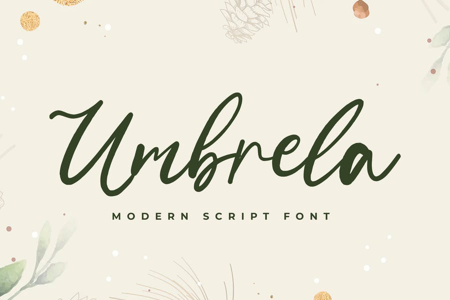 Umbrela Modern Script