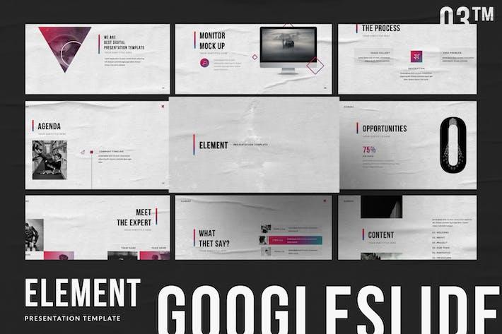 Element Brand Sheet Google Slide