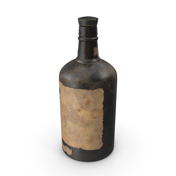 Старая бутылка алкоголя
