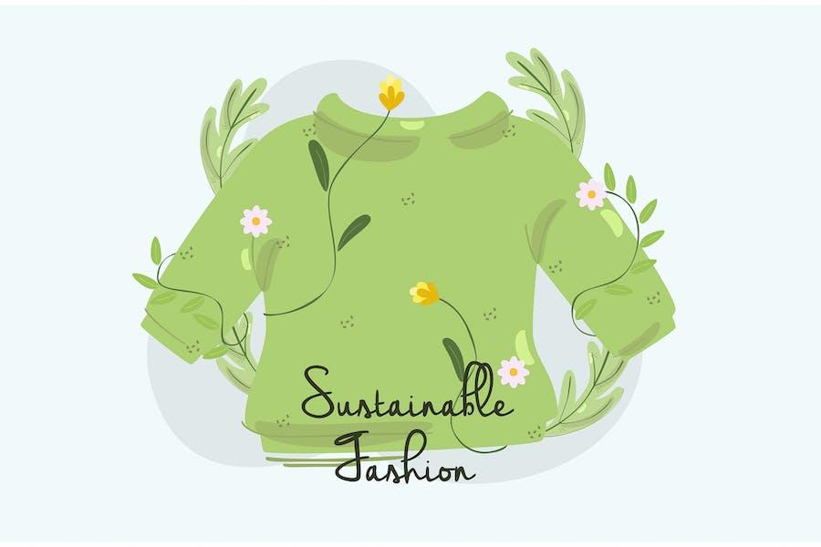 Handgezeichnete Illustration recycelter