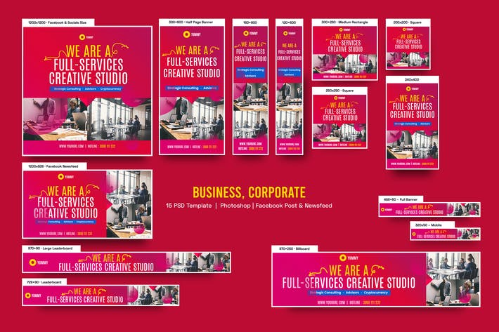 Business, Corporate Banners Ad