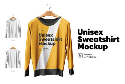Unisex Sweatshirt Mockup Set