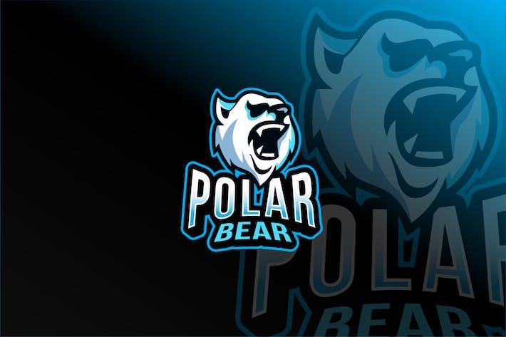 Thumbnail for Polar Bear Esport Logo Template