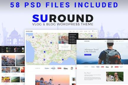 Suround - Vlog & Blog PSD Vorlage